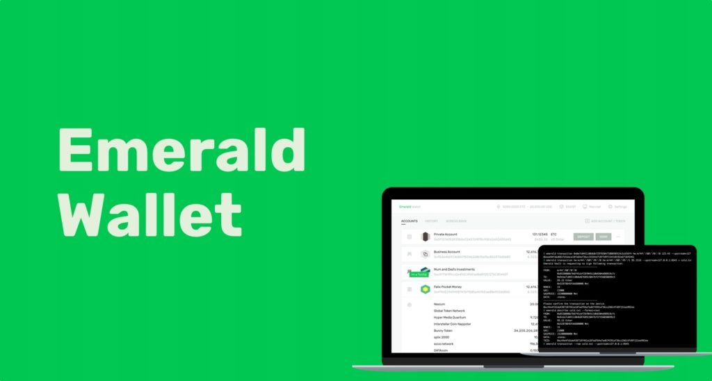 Скачать Emerald wallet для Win/MacOS/Linux: