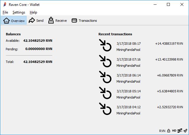 Официальным и рекомендуемым кошельком для Ravencoin является кошелек Raven core. Это кошелек с открытым исходным кодом, который доступен для Windows, Mac и Linux. Кошелек Raven core qt похож на кошелек Bitcoin core, за исключением того, что кошелек RVN имеет некоторые дополнительные функции, такие как создание / передача и управление активами.